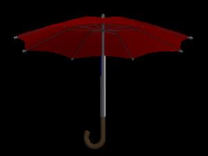Un parapluie ouvert