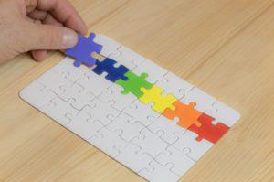 Puzzle aux couleurs LGBT